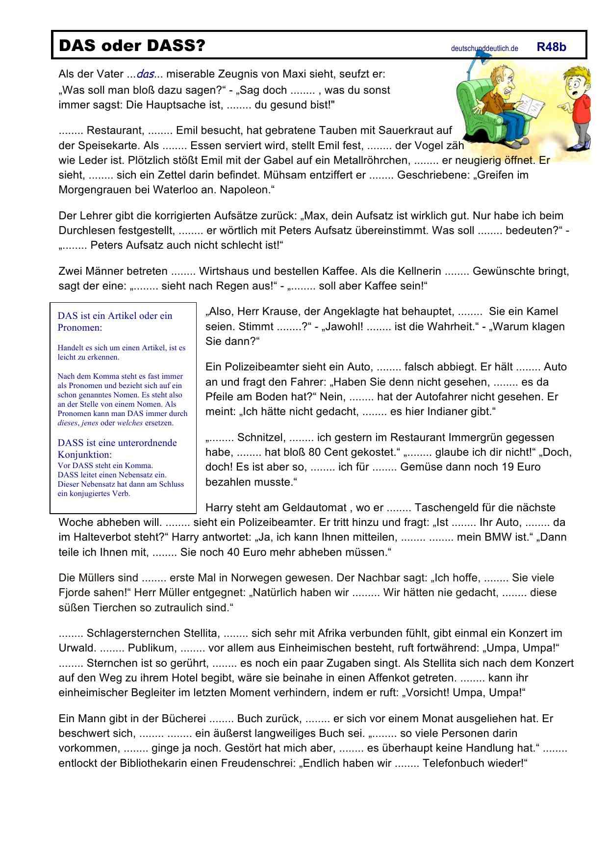 Arbeitsblätter Deutsch Und Deutlich
