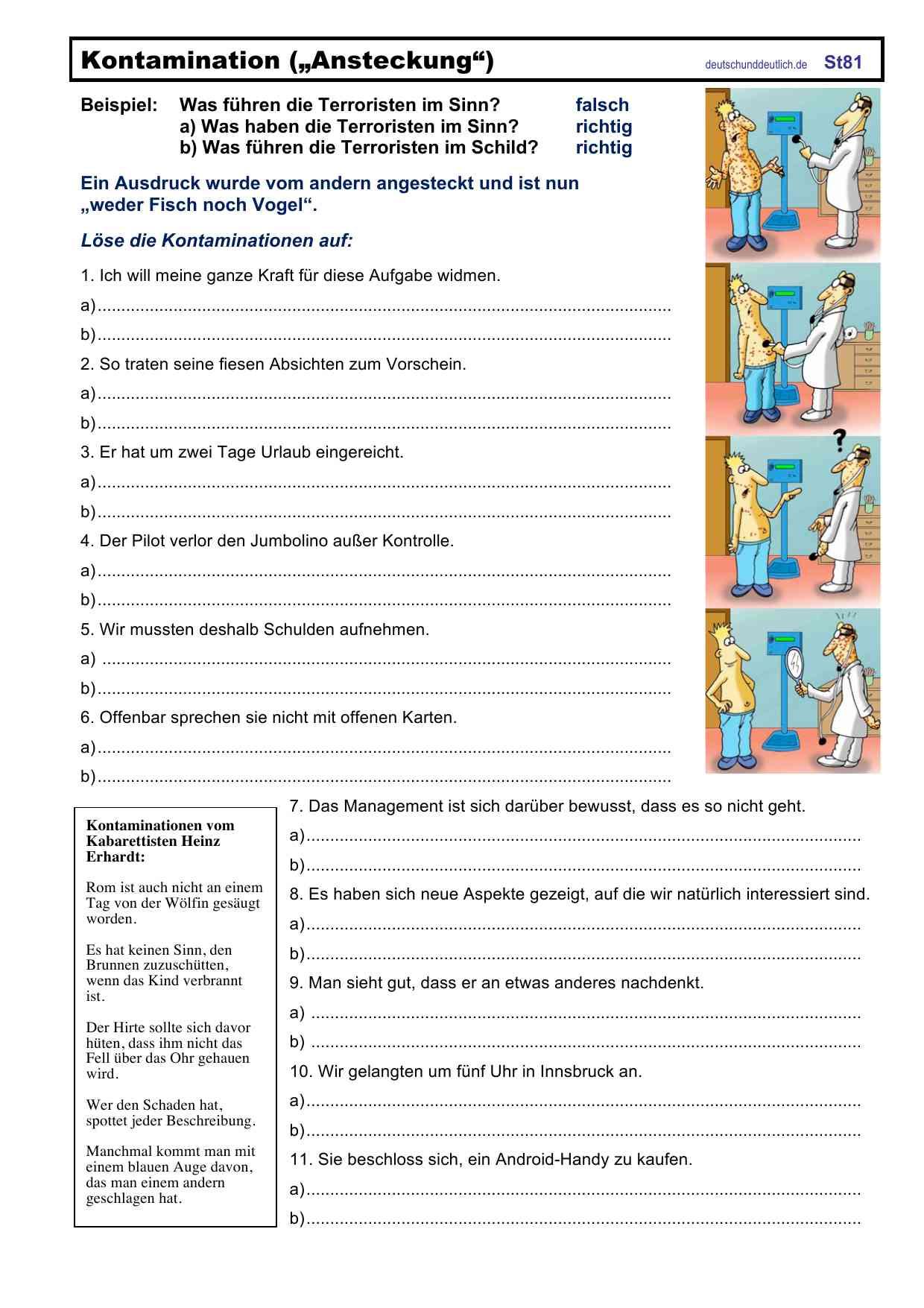 Kostenlos test deutsch zeitformen Klassenarbeiten und
